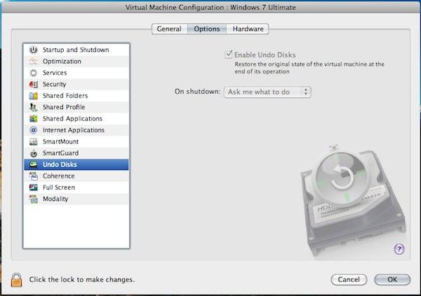 「Virtual Machine Configuration」におけるインターフェイスの改善