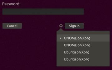リストから「GNOME on Xorg」を選択