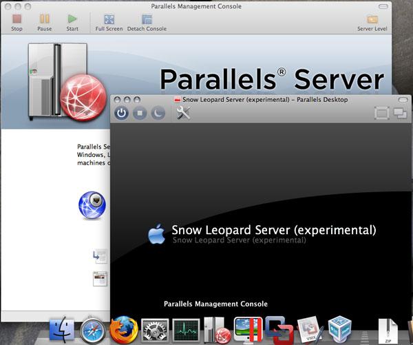 「Parallels Management Console」+「Parallels Desktop 4.0 for Mac」