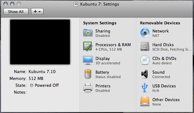 「VMware Fusion 2.0 Beta 1 Build 89933」における「Virtual SMP」の実装