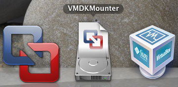 「Dock」に登録された「VMDKMounter」